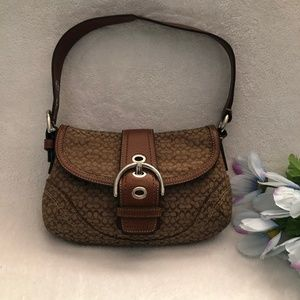 Coach Signature C Mini Shoulder Bag Khaki F12308